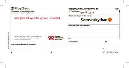 Bild på Inbetalningskort för Svenska kyrkan i utlandet
