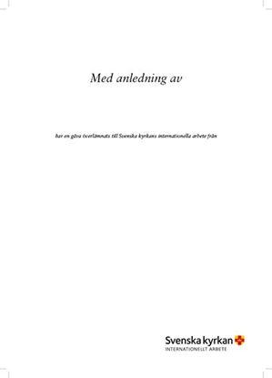 Bild på Iläggsblad till hyllningsblad, Internationellt arbete