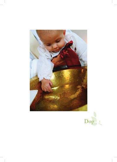 Bild på Hyllningsblad, dop med barn vid dopfunt, Internationellt arbete