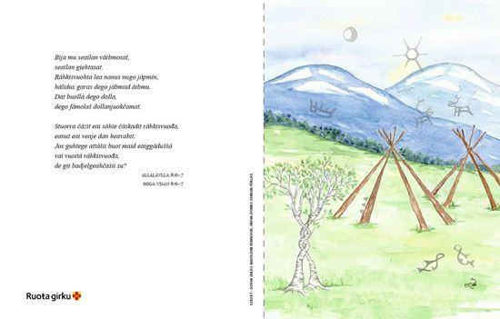 Bild på Vigselbevis Vihahandduodaštus, nordsamiska