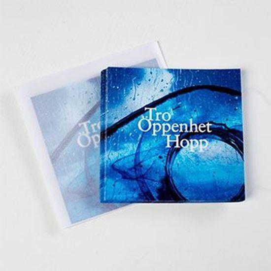 Bild på Tro Öppenhet Hopp - vykort med frostat kuvert
