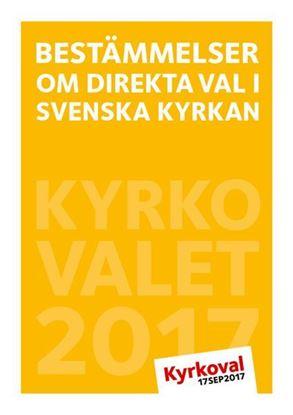 Bild på Bestämmelser om direkta val i Svenska kyrkan. Kyrkovalet