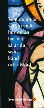 Bild på Bokmärke - Vem du än är. Kyrkfönster.