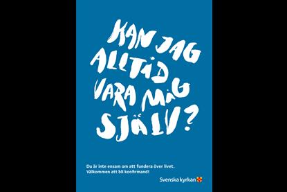 Bild på Vykort Krafttag konfirmation