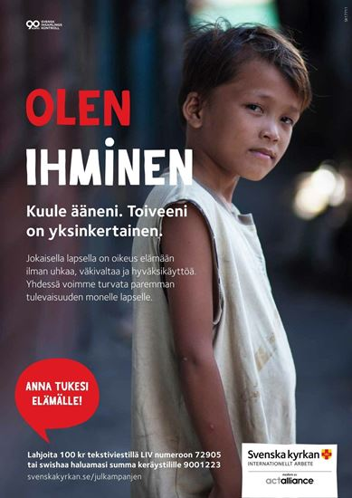 Bild på PDF: Kampanjaffisch på finska