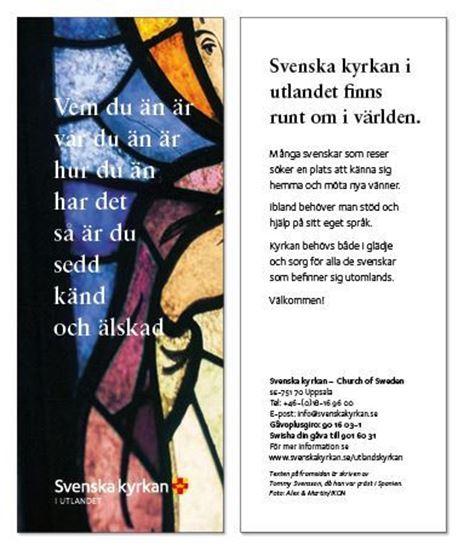Bild på Bokmärke - Vem du än är - Kyrkfönster.