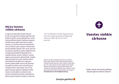 Bild på Folder. Första hjälpen vid sorg. SYDSAMISKA. PDF.