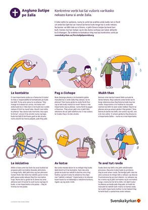 Bild på Första hjälpen vid sorg. Affisch på ROMANI KALDERASH. PDF.