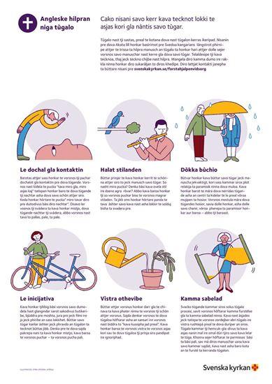 Bild på Första hjälpen vid sorg. Affisch RESANDEROMANI. PDF.