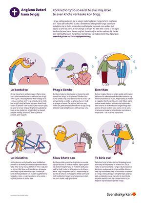 Bild på Första hjälpen vid sorg. Affisch på LOVARI. PDF.