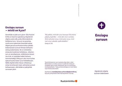 Bild på Första hjälpen vid sorg. Folder på FINSKA. PDF
