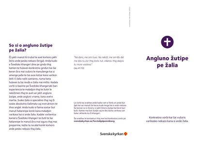 Bild på Folder. Första hjälpen vid sorg. ROMANI KALDERASH. PDF.