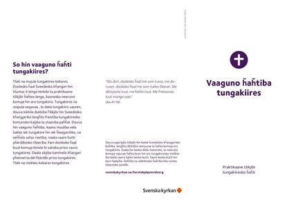Bild på Folder. Första hjälpen vid sorg. ROMANI KAALE. PDF.