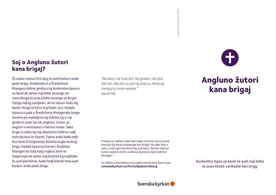 Bild på Första hjälpen vid sorg. Folder på LOVARI. PDF