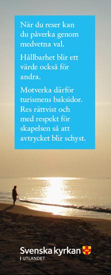 Bild på Bokmärke. Vem du än är-Person vid strand.