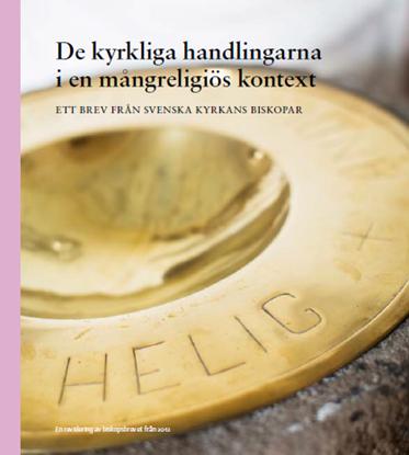 Bild på Biskopsbrev De kyrkliga handlingarna i en mångreligiös kontext (revidering av 2012 års utgåva)