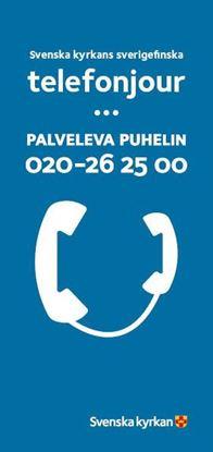 Bild på Sverigefinska telefonjouren. Personalfolder