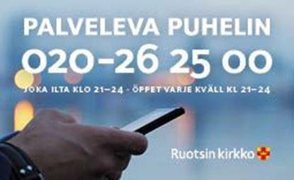 Bild på Sverigefinska telefonjouren. Infokort. 100 kort/ask.
