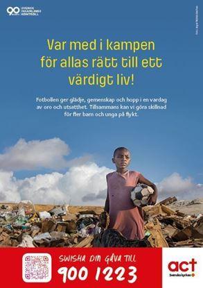 Bild på Flygblad - fotboll i flyktingläger