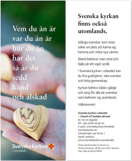 Bild på Bokmärke. Hjärta i hand.