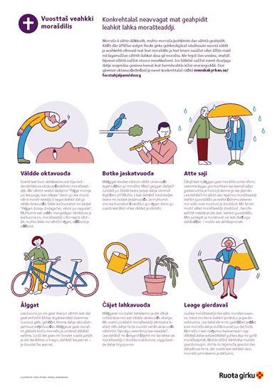 Bild på Affisch Första hjälpen vid sorg. NORDSAMISKA. PDF.
