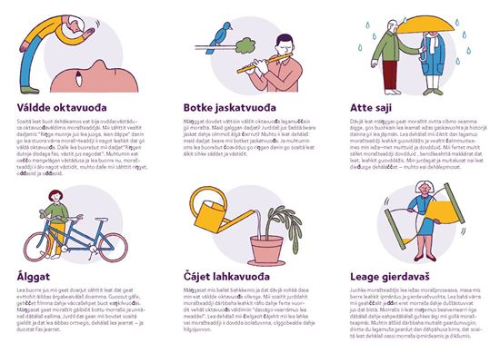 Bild på Folder Första hjälpen vid sorg. NORDSAMISKA. PDF.