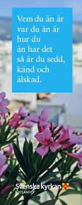 Bild på Bokmärke. Vem du än är. Rosa Blommor.
