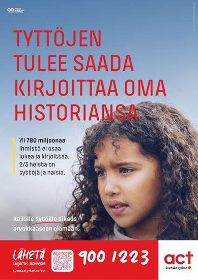 Bild på Julinsamlingen 2019, affisch på finska
