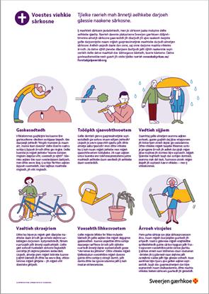 Bild på Affisch. Första hjälpen vid sorg. SYDSAMISKA. PDF.