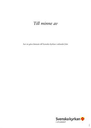 Bild på Iläggsblad minnes utlandskyrkan.