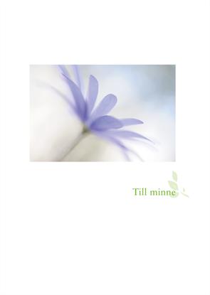 Bild på Minnesblad utlandskyrkan blå blomma