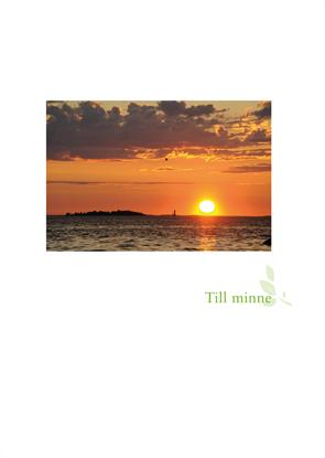 Bild på Minnesblad utlandskyrkan solnedgång i hav