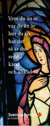 Bild på Bokmärke. Kyrkfönster.