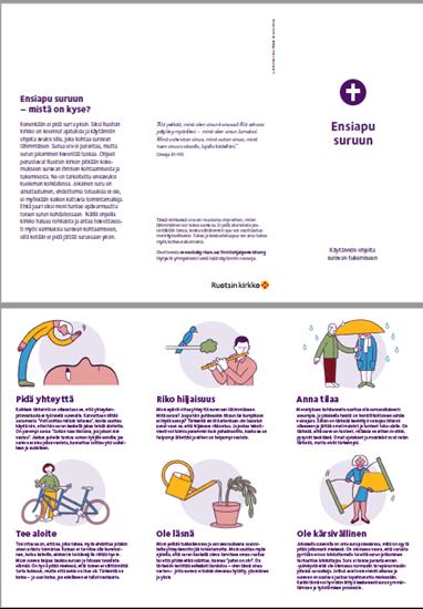 Bild på Folder. Första hjälpen vid sorg. FINSKA. PDF.