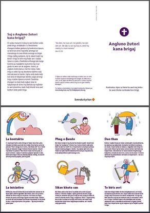Bild på Folder. Första hjälpen vid sorg. ROMANI LOVARI. PDF.