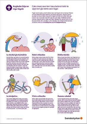 Bild på Affisch. Första hjälpen vid sorg. RESANDEROMANI. PDF.