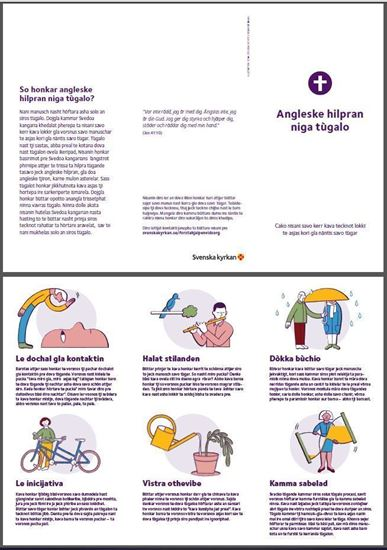 Bild på Folder. Första hjälpen vid sorg. RESANDEROMANI. PDF.