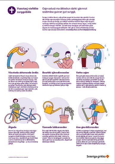 Bild på Affisch. Första hjälpen vid sorg. LULESAMISKA. PDF.