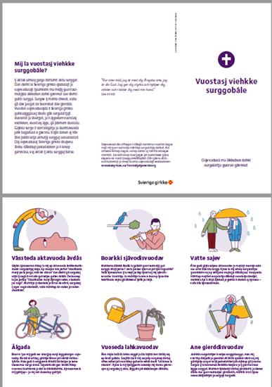 Bild på Folder. Första hjälpen vid sorg. LULESAMISKA. PDF.