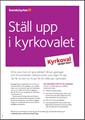 Bild på KV21. Ställ upp i kyrkovalet.  Informationsblad. PDF.