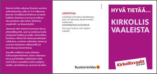 Bild på KV21. Bra att veta. Finska. PDF.