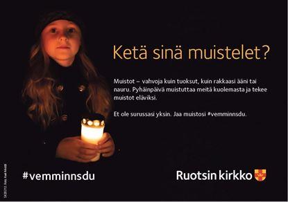 Bild på Vem minns du? Annons A5, finsk text