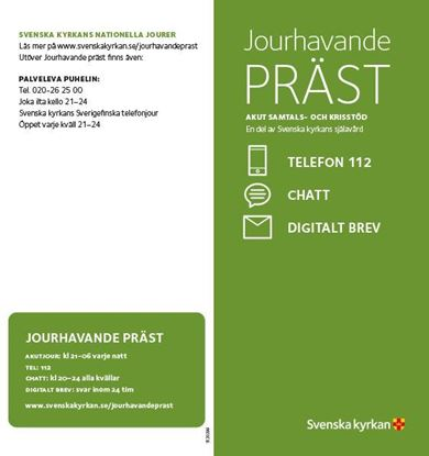 Jourhavande präst, Folder