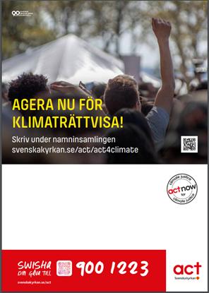 Bild på Aktivitetsaffisch A3 med uppmaning till namninsamling och swish
