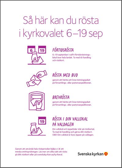 Bild på KV21. Rösta i kyrkovalet. Affisch. A4.