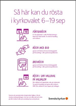 Bild på KV21. Rösta i kyrkovalet. Affisch. A3.